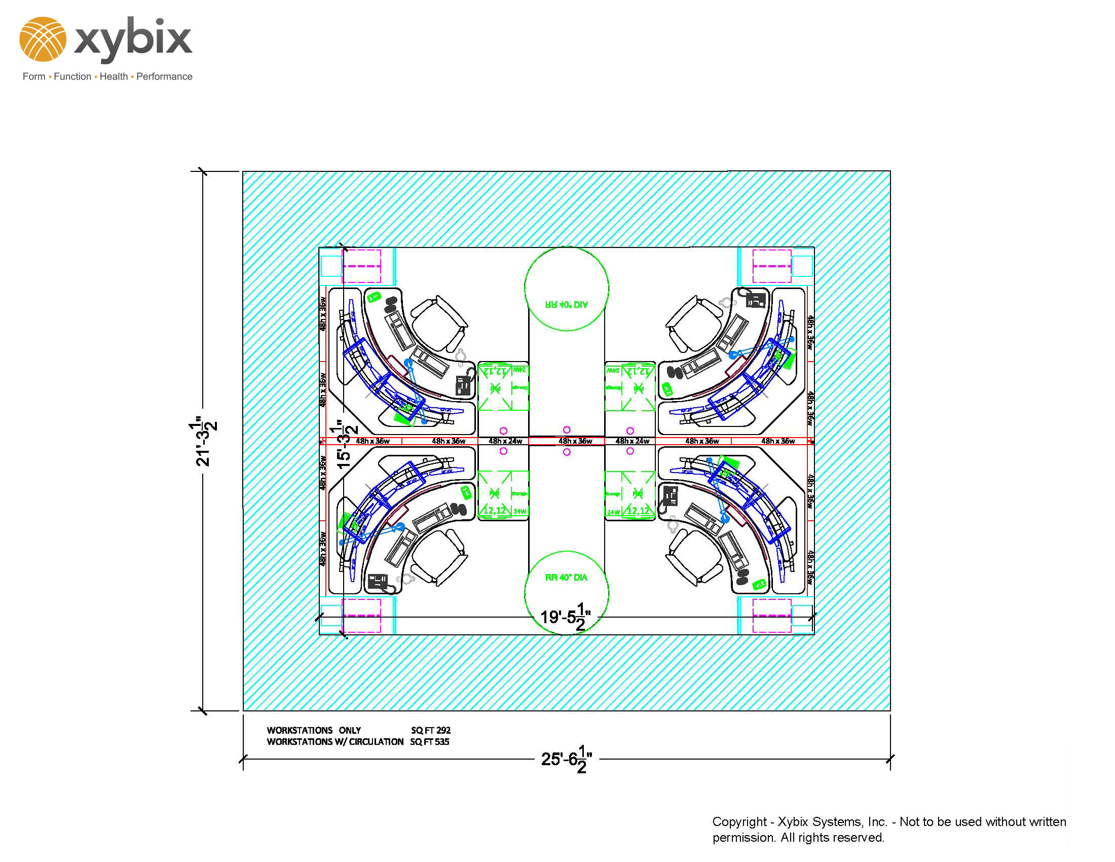 Xybix Typical Layout Ex1