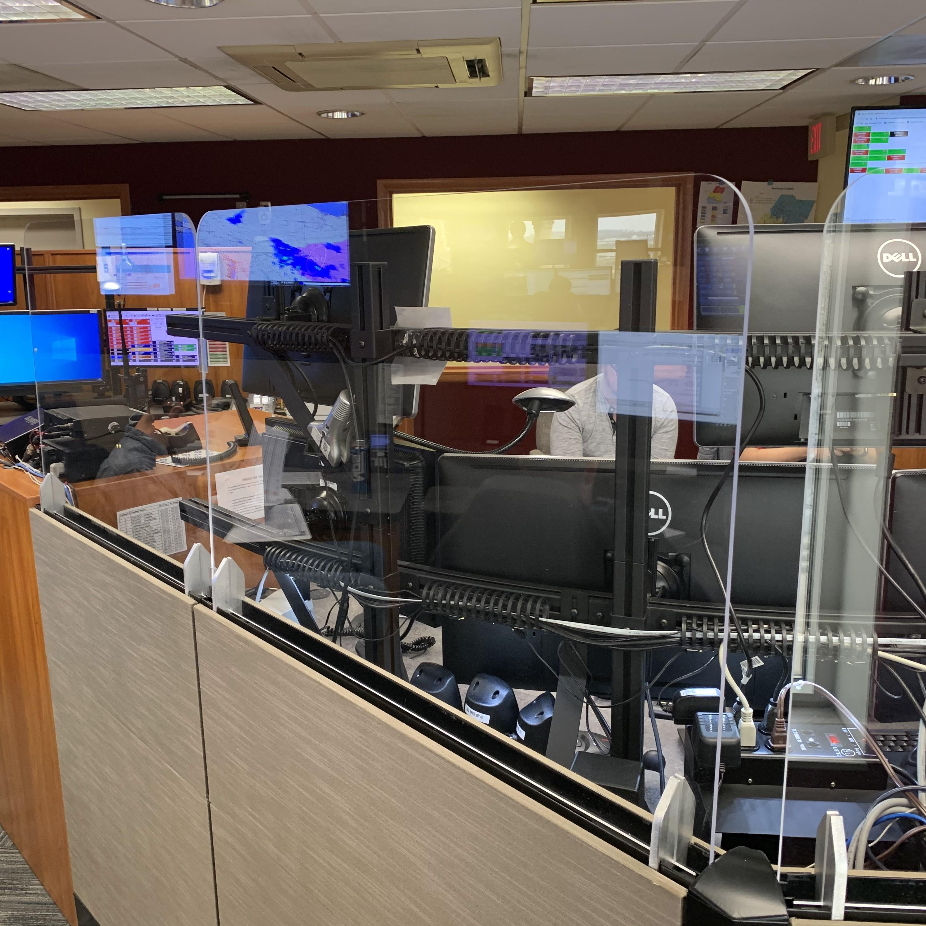 Palm Beach County 911 installs new Xybix PlexiGuard panel screens
